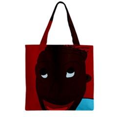 Happy boy Zipper Grocery Tote Bag