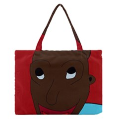 Happy Boy Medium Zipper Tote Bag