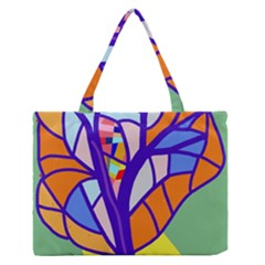Decorative tree 4 Medium Zipper Tote Bag