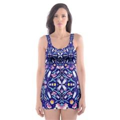 Flora Cosmica Skater Dress Swimsuit
