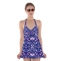 Flora Cosmica Halter Swimsuit Dress