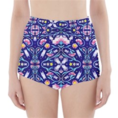 Flora Cosmica High-Waisted Bikini Bottoms