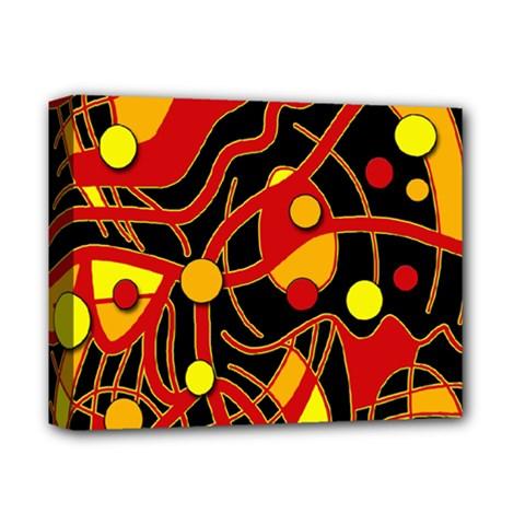 Orange floating Deluxe Canvas 14  x 11