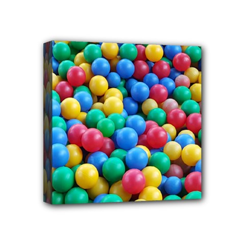 Funny Colorful Red Yellow Green Blue Kids Play Balls Mini Canvas 4  x 4