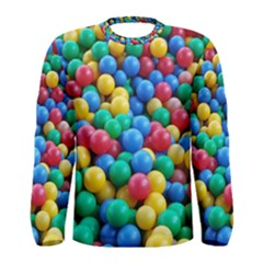 Funny Colorful Red Yellow Green Blue Kids Play Balls Men s Long Sleeve Tee