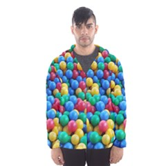 Funny Colorful Red Yellow Green Blue Kids Play Balls Hooded Wind Breaker (Men)