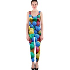 Funny Colorful Red Yellow Green Blue Kids Play Balls OnePiece Catsuit