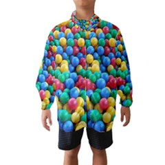 Funny Colorful Red Yellow Green Blue Kids Play Balls Wind Breaker (Kids)