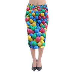Funny Colorful Red Yellow Green Blue Kids Play Balls Midi Pencil Skirt