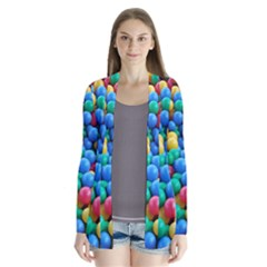 Funny Colorful Red Yellow Green Blue Kids Play Balls Drape Collar Cardigan