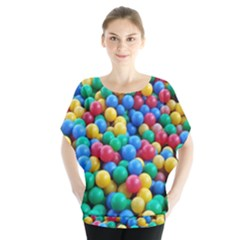 Funny Colorful Red Yellow Green Blue Kids Play Balls Blouse