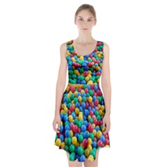 Funny Colorful Red Yellow Green Blue Kids Play Balls Racerback Midi Dress