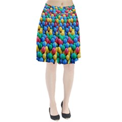Funny Colorful Red Yellow Green Blue Kids Play Balls Pleated Skirt