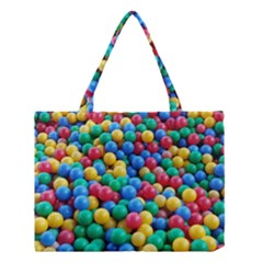 Funny Colorful Red Yellow Green Blue Kids Play Balls Medium Tote Bag