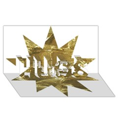 Happy New Year 2017 Gold White Star HUGS 3D Greeting Card (8x4)