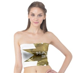 Happy New Year 2017 Gold White Star Tube Top