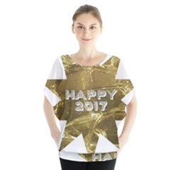 Happy New Year 2017 Gold White Star Blouse