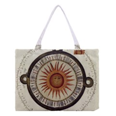 Ancient Aztec Sun Calendar 1790 Vintage Drawing Medium Tote Bag