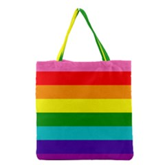 Colorful Stripes Lgbt Rainbow Flag Grocery Tote Bag