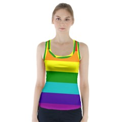 Colorful Stripes Lgbt Rainbow Flag Racer Back Sports Top