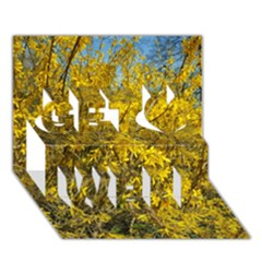 Nature, Yellow Orange Tree Photography Get Well 3D Greeting Card (7x5)