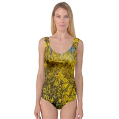 Nature, Yellow Orange Tree Photography Princess Tank Leotard