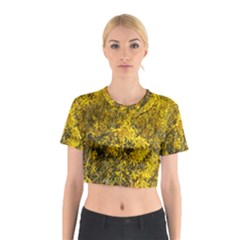 Nature, Yellow Orange Tree Photography Cotton Crop Top