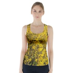 Nature, Yellow Orange Tree Photography Racer Back Sports Top