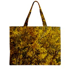 Nature, Yellow Orange Tree Photography Medium Tote Bag