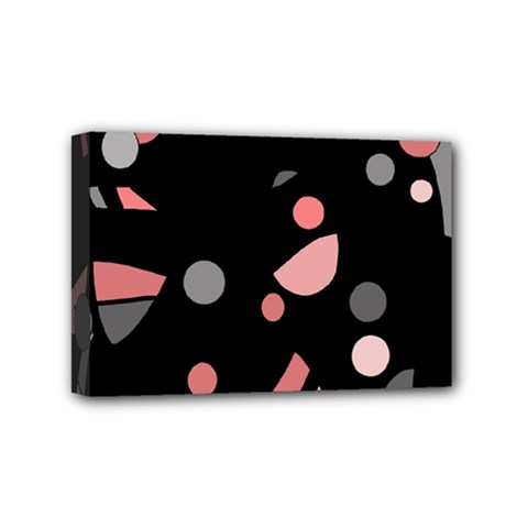 Pink and gray abstraction Mini Canvas 6  x 4