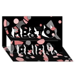 Pink and gray abstraction Best Friends 3D Greeting Card (8x4)