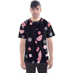 Pink and gray abstraction Men s Sport Mesh Tee