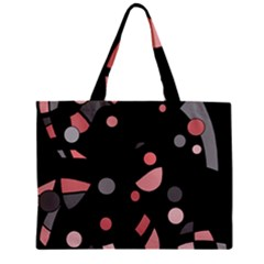 Pink and gray abstraction Zipper Mini Tote Bag