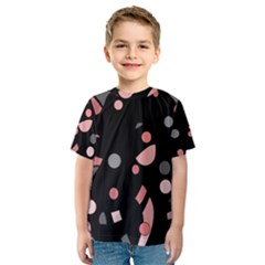 Pink and gray abstraction Kids  Sport Mesh Tee