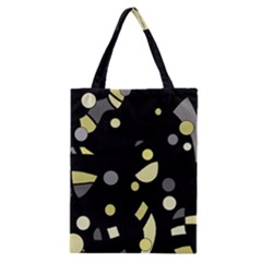 Yellow and gray abstract art Classic Tote Bag