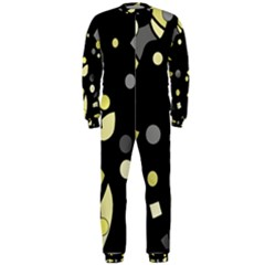 Yellow and gray abstract art OnePiece Jumpsuit (Men)