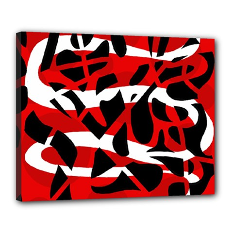 Red chaos Canvas 20  x 16
