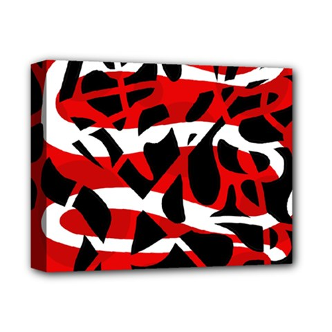 Red chaos Deluxe Canvas 14  x 11