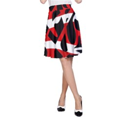Red chaos A-Line Skirt