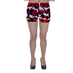 Red chaos Skinny Shorts