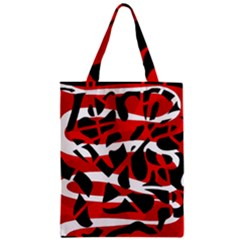 Red chaos Zipper Classic Tote Bag