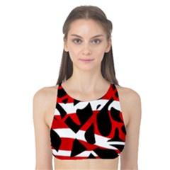 Red chaos Tank Bikini Top