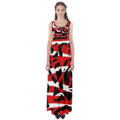 Red chaos Empire Waist Maxi Dress