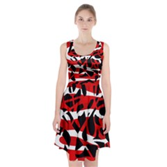 Red Chaos Racerback Midi Dress