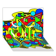Colorful Chaos Clover 3d Greeting Card (7x5)