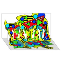 Colorful chaos BEST SIS 3D Greeting Card (8x4)