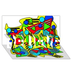 Colorful chaos BELIEVE 3D Greeting Card (8x4)