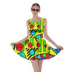Colorful chaos Skater Dress