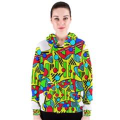 Colorful chaos Women s Zipper Hoodie