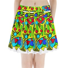 Colorful Chaos Pleated Mini Skirt